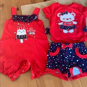 2 size 18 months patriotic outfits